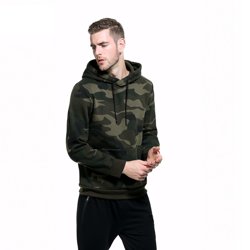 Europe Size Men Hoodies Casual Sweatshirt Brand Spring Military Camouflage Hooded Sportswear Fleece Pullover Thick Clothing Male