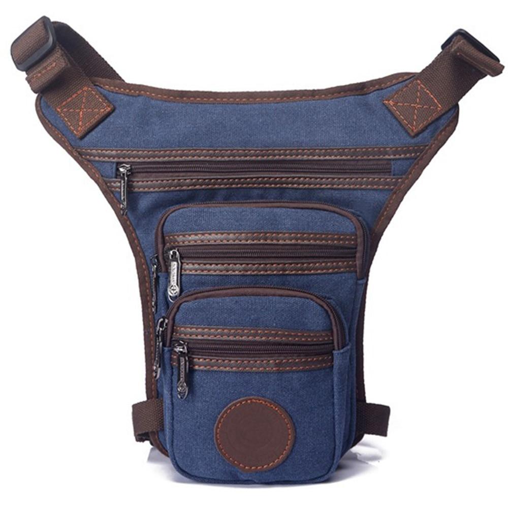 Mænd vandtæt nylon / lærred talje pakke taske crossbody skulder - Bæltetasker - Foto 3