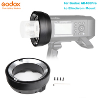 Godox AD400Pro Austauschbare Montieren Ring Adapter für Elinchrom Montieren Zubehör-in Blitz-Zubehör aus Verbraucherelektronik bei