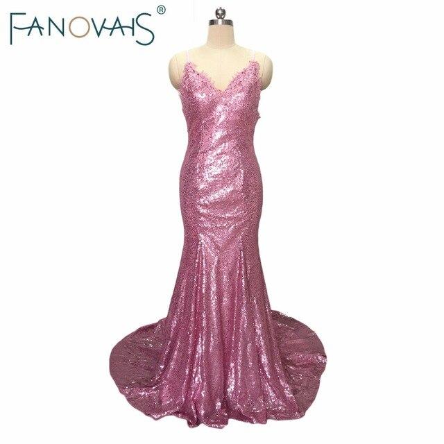 V ausschnitt Meerjungfrau Brautjungfernkleider Reizvolle Backless ...