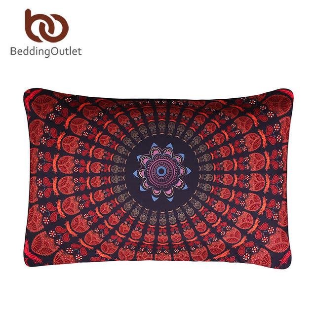 BeddingOutlet Bohemia Pillow Case Posture Million Printed Pillowcase Boho Floral Pillow Cover Bedclothes 1Pc 50cmx75cm 50cmx90cm