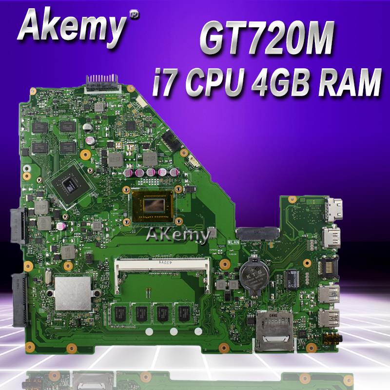 Akemy X550CC Laptop motherboard for ASUS A550C X550CL R510C Test original mainboard 4G RAM I7 CPU