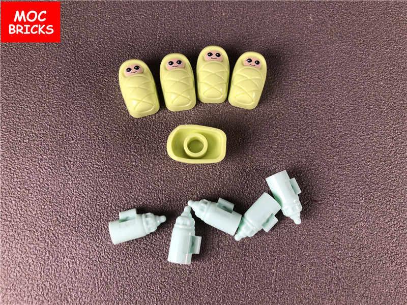 Conjunto Venda MOC Tijolos DIY Bebê/Infantil com carrinho de Bebê Garrafa conjunto de Blocos de construção Educacional Tijolos brinquedos para as crianças presentes