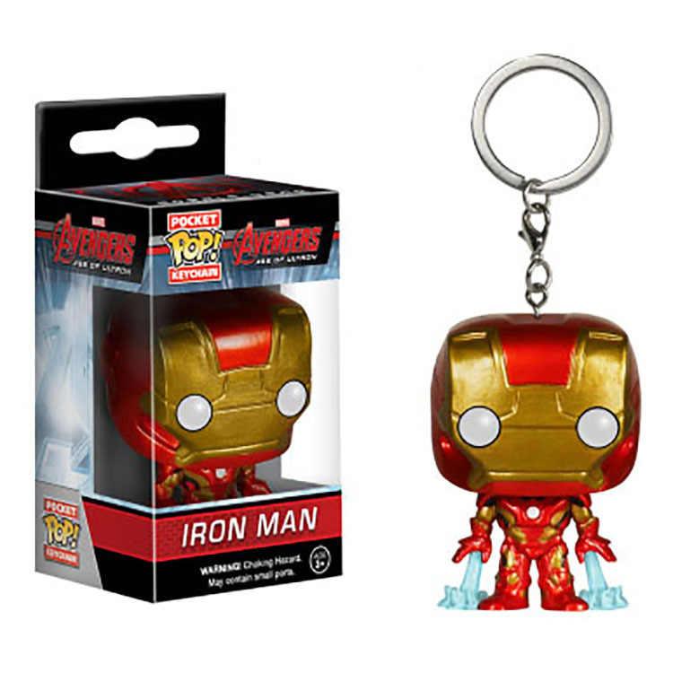 POP Marvel The Avengers Iron Man Schlüssel kette Tasche Pop Keychain Ironman Tony stark Action Figure Sammeln Modell Spielzeug Für kinder