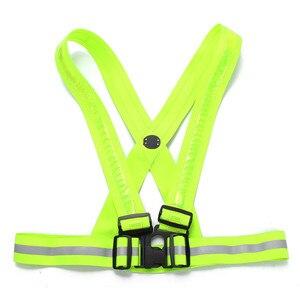 Image 4 - Новинка 2017, прочная качественная флуоресцентная зеленая светодиодная лента с usb зарядкой, светоотражающая жилетка, одежда для безопасности