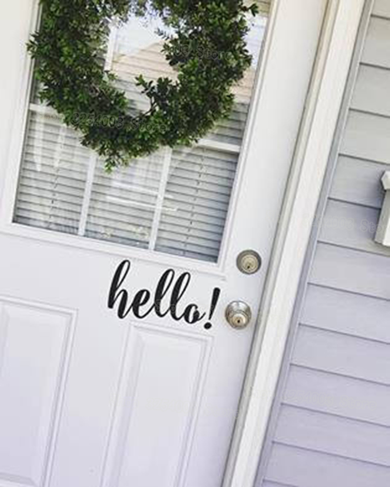 Hello Decal Cute Front Door Vinyl Decal Sticker Business Store House Home