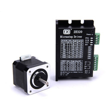4218HB2 stepper motor + 2H320 drive set body height 40MM torque 0.5N.m 128 subdivision thb7128 step motor drive control panel 128 3 a current subdivision control module