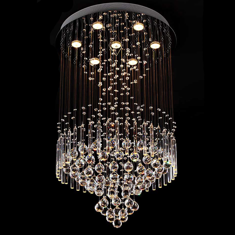 New square modern string big crystal chandelier hotel lobby new square modern string big crystal chandelier hotel lobby chandelier lighting in chandeliers from lights lighting on aliexpress alibaba group aloadofball Image collections