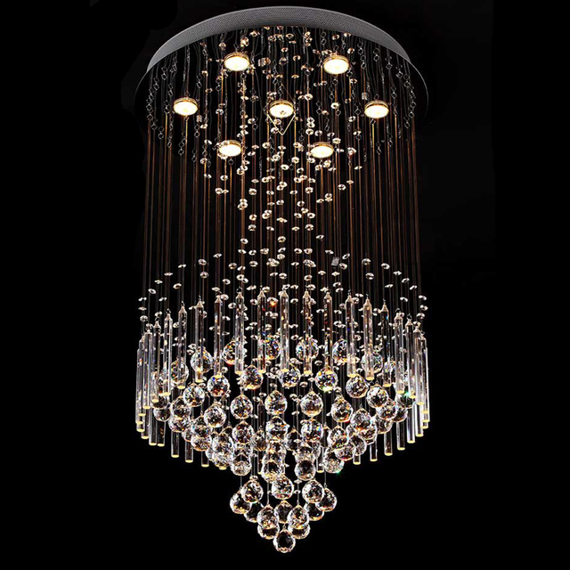 New square modern string big crystal chandelier hotel lobby new square modern string big crystal chandelier hotel lobby chandelier lighting aloadofball Choice Image