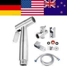 цена на Handheld Bidet Spray Shower Set Toilet Shattaf Sprayer Douche kit Bidet Faucet,Brushed Nickel, 304 Stainless Steel