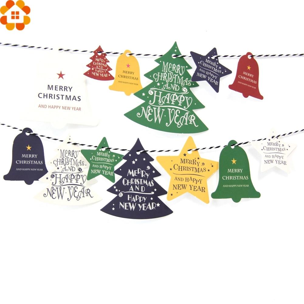 50PCS DIY Paper Tags Tree Shape Kraft Paper Card Labels Paper Cards ...