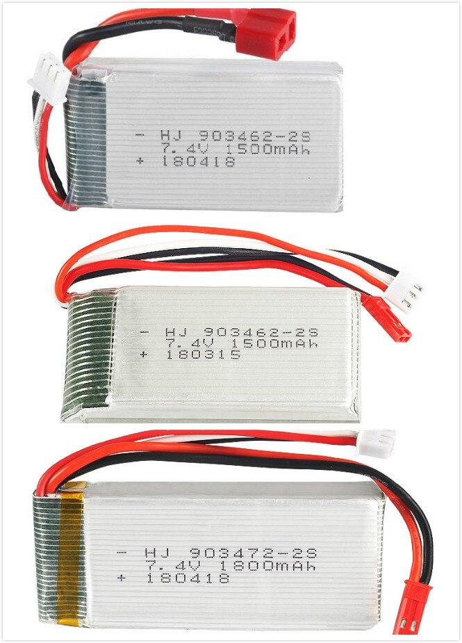 7.4 v 1500 mah 1800 mah Lipo Batterie Pour WLtoys V913 L959 L969 L979 L202 L212 télécommande voitures HQ955 RC bateau 2 s 7.4 v