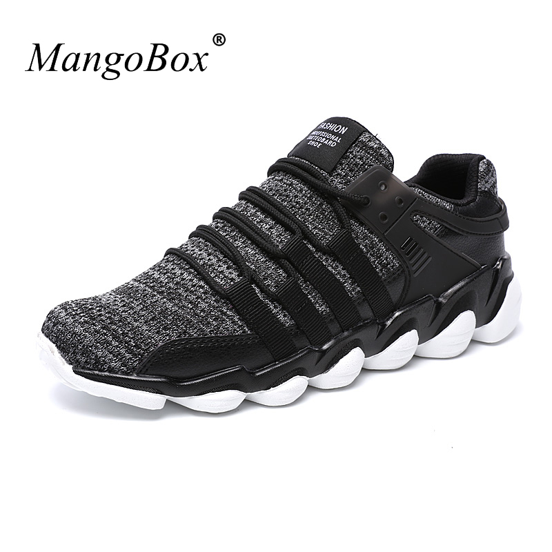 2017 Mens Trainers Sneakers Running Shoes Comfortable Sport Sneakers Black White Jogging ...