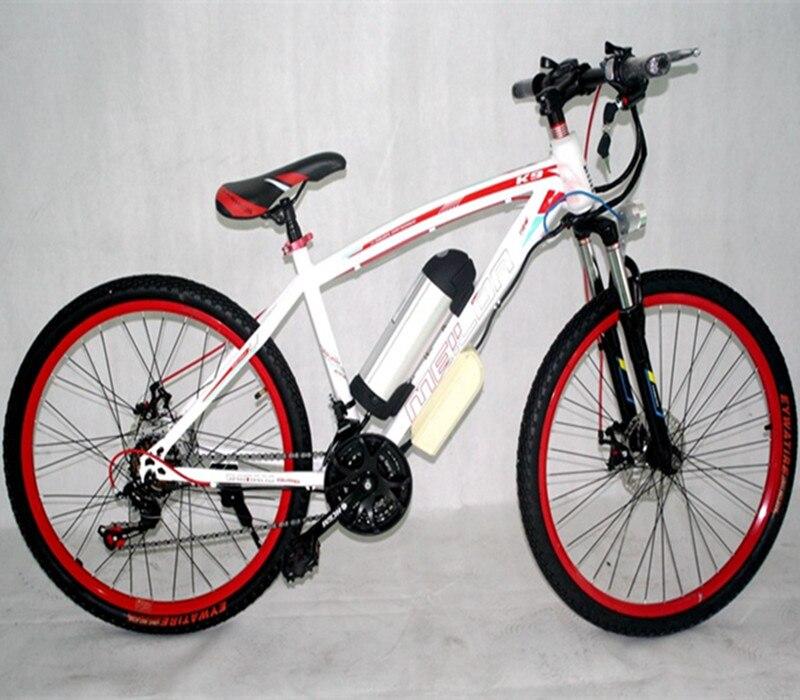 26 дюймов Высокоуглеродистая сталь 21 скорость дисковые тормоза Электрический горный велосипед 36 В литиевая батарея booster Электрический вело...