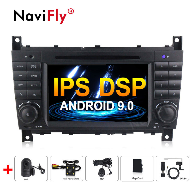 Android 9.0 IPS DSP Car dvd radio audio Multimedia Player For Mercedes/Benz W203 W209 W219 A-Class A160 C-Class C180 C200 GPS