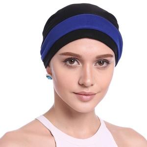 Image 3 - Haimeikang Herfst Winter Vrouwen Gevouwen Tulband Chemo Cap Haarbanden voor Vrouwen Moslim Bloem Headwrap Hoofdbanden Haar Accessoires