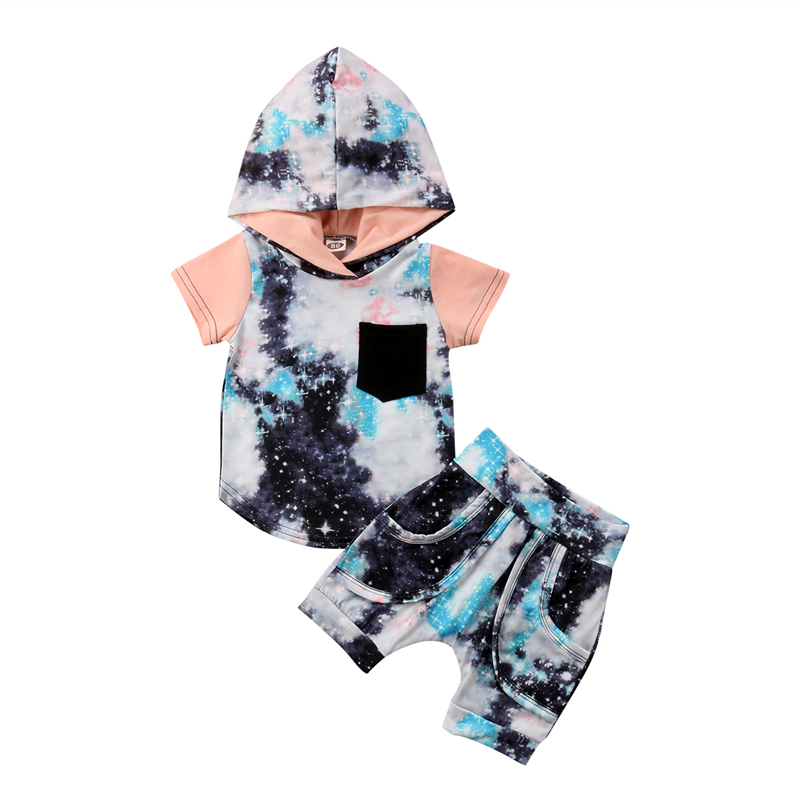 T-Shirt Outfit Clothing-Set Tops Hoodie Short-Pants Baby Kids Boys Camouflage Children