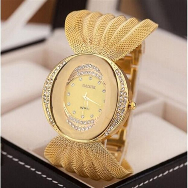 New fashion gold quartz watch famous brand women clock Elegant women Watch Luxur