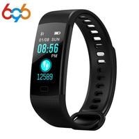 696 Y5 bande intelligente sommeil Tracker montre couleur écran électronique Fitness Bracelet moniteur de fréquence cardiaque Bracelet intelligent PK Xiao mi