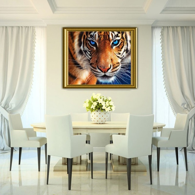 Tiger Head DIY Diamond Painting Animal Craft Accessories Cross-stitch Thorn to Draw Needlework Picture Diamond Embroidery
