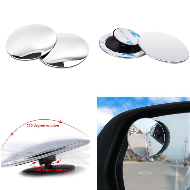 Universal 2PCS Auto 360 Wide Angle Car Small Round Mirror for Renault Koleos Clio Scenic Megane Duster Sandero Captur Twingo