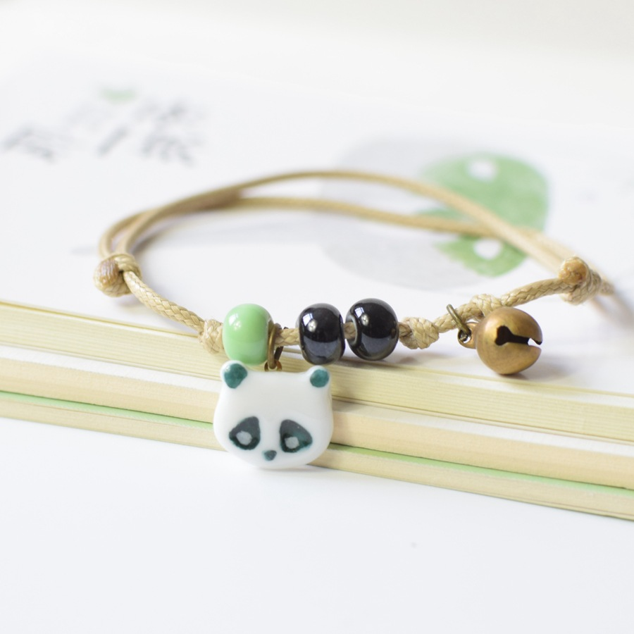 Fashion Exquisite Handmade Jewelry Ceramic Panda Bracelet Cute Animal Bracelet - Free Shipping bracelet