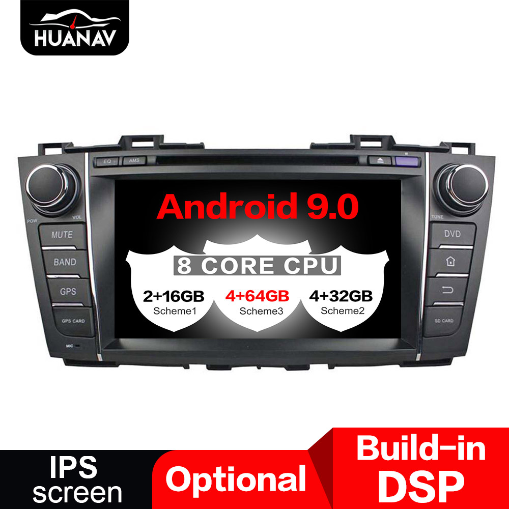 DSP Android 9.0 Car GPS Navigation CD DVD Player head unit For Mazda 5 2009 2012 CAR radio Stereo multimedia player recorder NAV