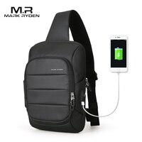 MarkRyden2018 New Sling Bag For Men USB Charging Shoulder Bag Water Resistant Chest Pack Large Capacity