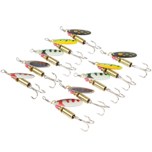 Goture 10pcs Spinners Spoon Fishing Lure Hard Artificial Bait  Fishing Tackle 5 Colors Spinner Baits Sea Fishing Lures