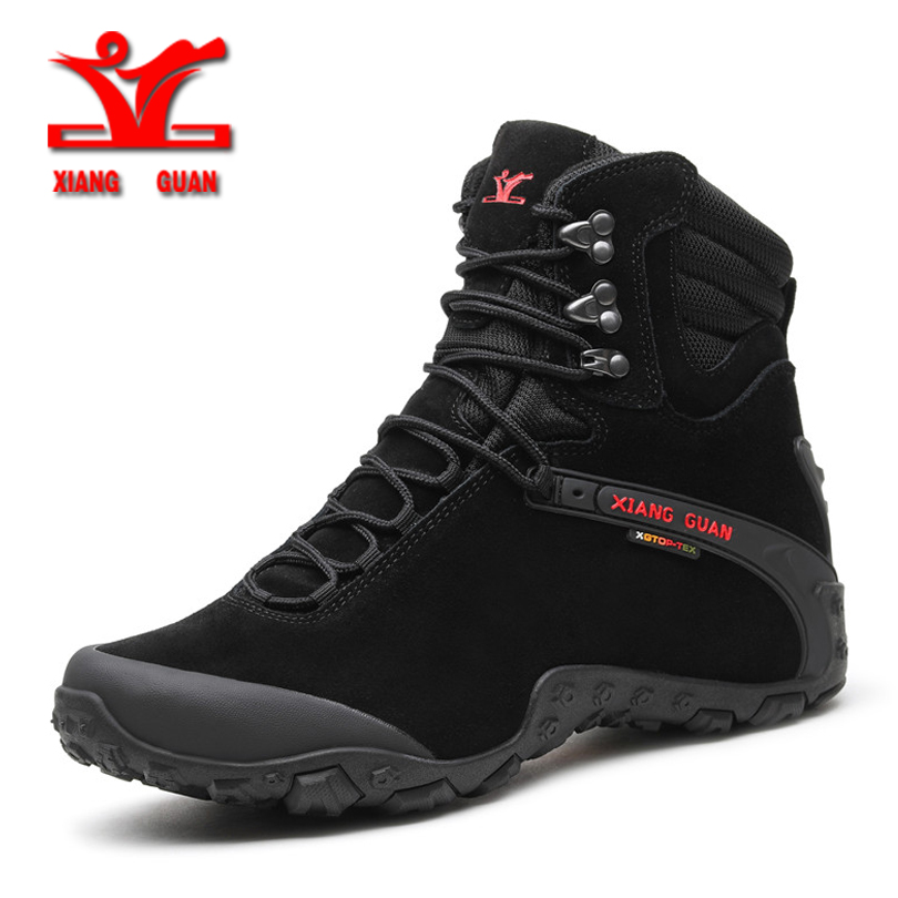 XiangGuan winter new Wear Resistant Camping Men Boots Tactical Sneakers Climbing Waterproof Boots for men Women