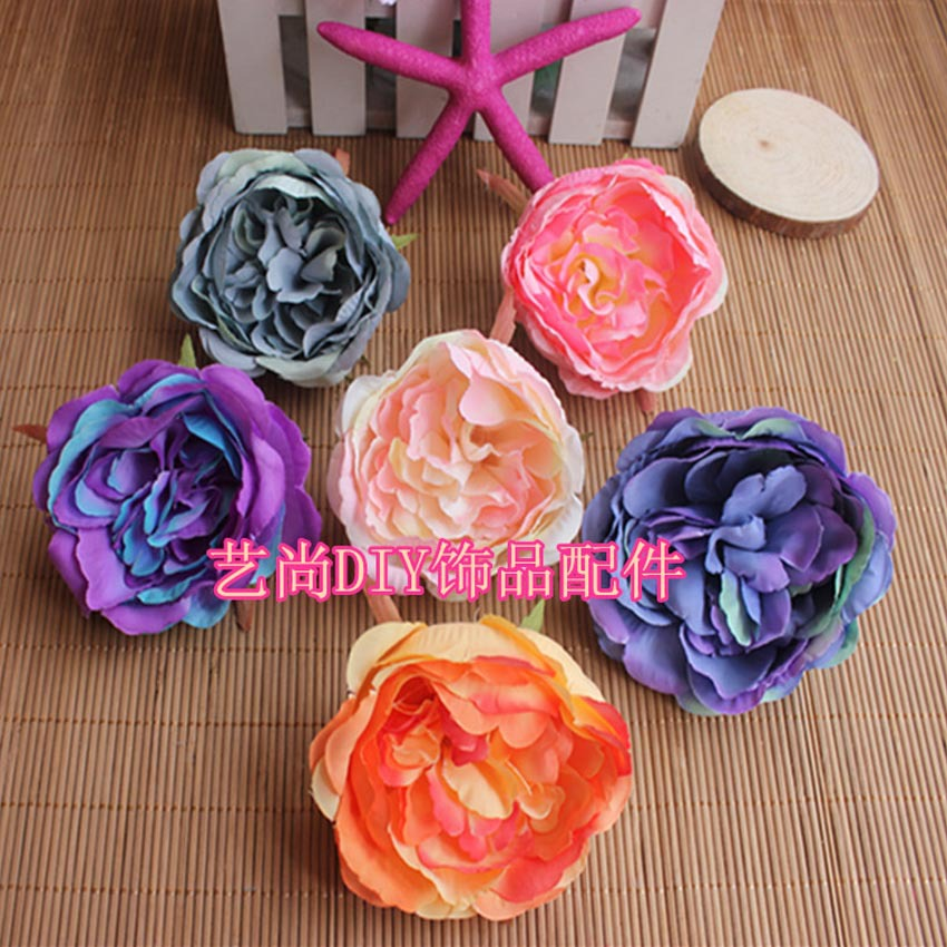 10 UNIDS, 8.5 CM Gran Tela de Seda Artificial Hibiscus Flores Jefes, - Para fiestas y celebraciones