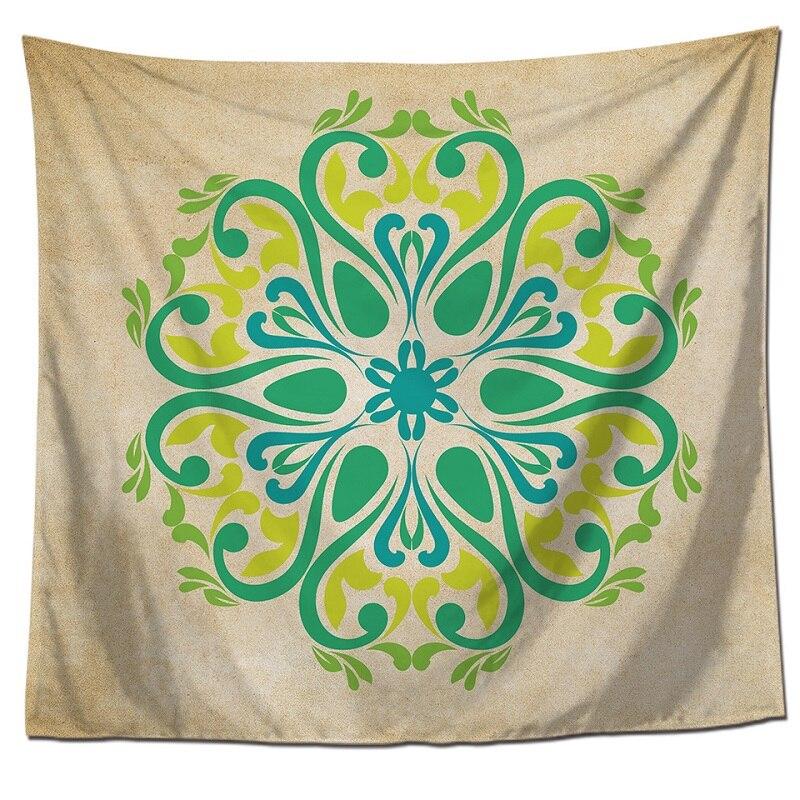 Tapestry Mandala Bohemian Lotus Mandala Tenture Murale Blanket mandala Wall hanging Tapiz pared Bohemia Printing 150x130cm