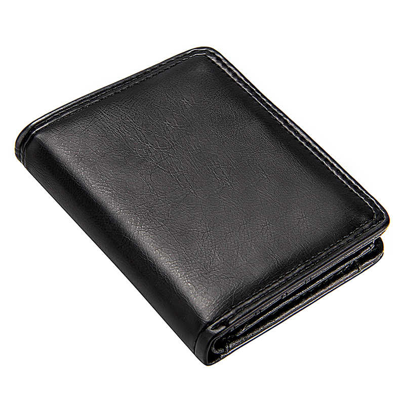 Business Men's Short Wallet Bifold Slim Card Holders for Men Casual Portable Coin Purse New Pu Leather Mini Male Cash Clutch Bag