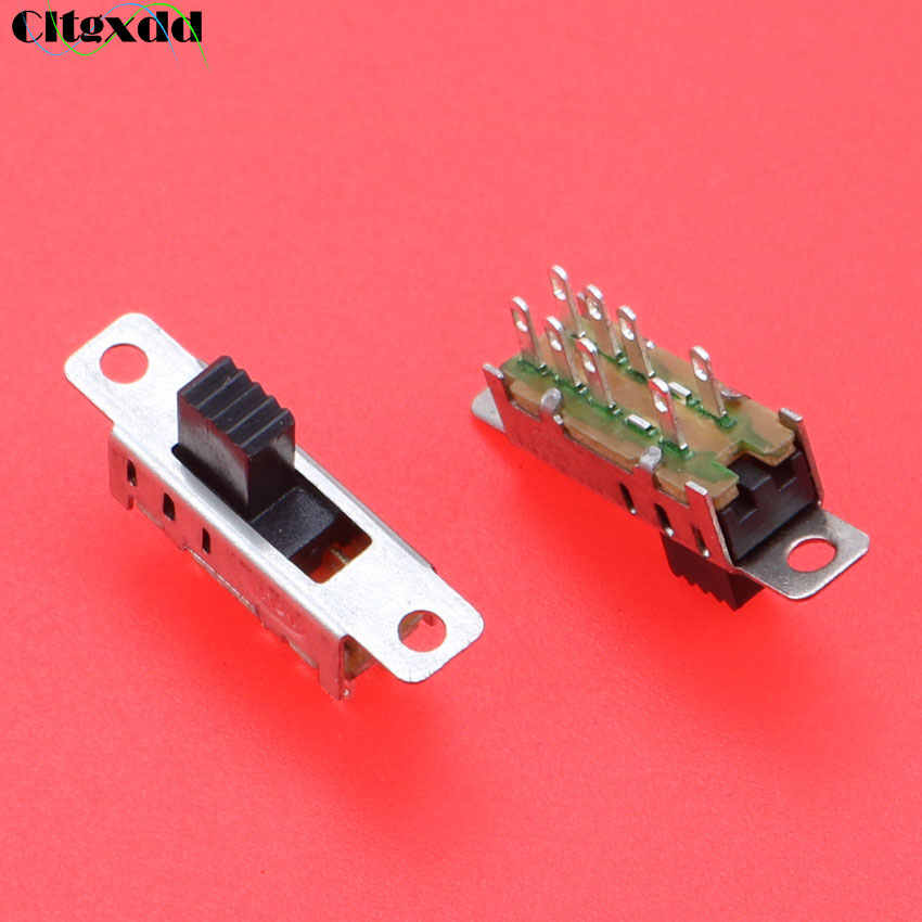 Cltgxdd 1pcs SS23E04G5 Toggle Switch Double 8 Pins 3 Files With Screw Ears 2P3T DP3T Handle High 5MM Small Slide Switch