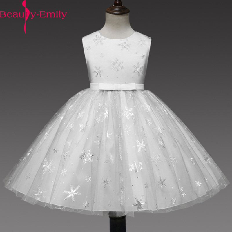 Beauty Emily Real Photo Tank Sleeveless Ball Gown Tulle   Flower     Girl     Dress   For Weddings Red kids Party Gowns With Appliques