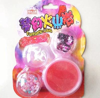 Children DIY Crystal Mud Children Ice Jelly Shrem Star Forest Dream volcanic Rocks Toys Crystal Mud Fluffy Slime Supplies fimo in Modeling Clay from Toys Hobbies