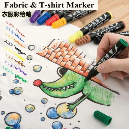 graffiti fabric paint set waterproof permanent marker textile pen