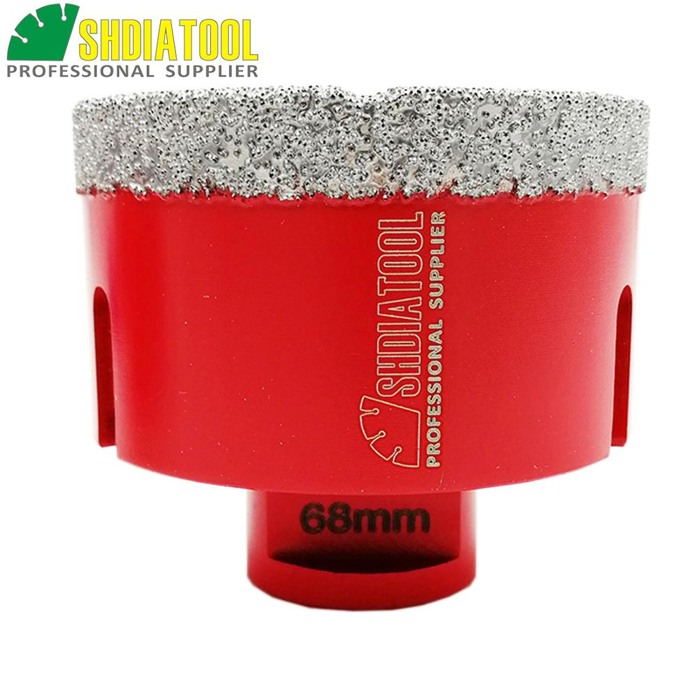 SHDIATOOL 1pc M14 Dia 68mm Vacuum Brazed Diamond Hole Saw Drill Core Bits Granite Drilling Bits Diamond Drill Bit Crown Bell Saw