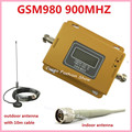 LCD Display ! GSM 900MHZ GSM 980 Wireless Mobile Phone Signal Repeater Booster ,Cell Phone Signal Amplifier kit with antenna