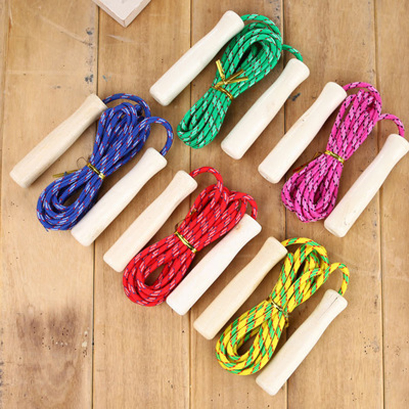 Wooden Children's Skipping Rope Toys Kindergarten Games Sports Equipment Students National Day Christmas Items Props Wholesale