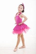 Gymnastics Leotard Child Dance Dress Short-sleeve Leotard Female Strap Ballet Gym Suit Infant Latin Dancewear Dresses For Girls
