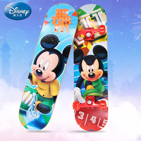 Disney child outdoor teen beginners four wheeled maple skateboard PU full flash wheel outdoor activities toys girlfriend gift