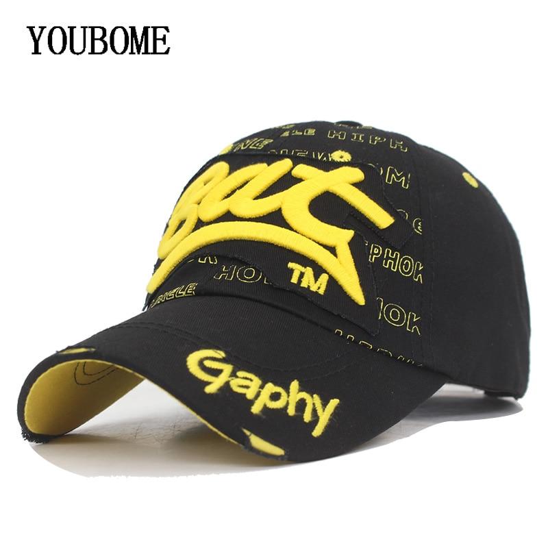YOUBOME Fashion Snapback   Baseball     Cap   Hats For Men Women Brand MaLe Cotton Embroidery Bone Gorras Letter Bat Dad Hat   Caps   2018