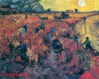 عامل مزارع اليدوية حديث تجريدي جدار الفن المناظر الطبيعية قماش النفط الطلاء الاستنساخ فان جوخ حديقة العنب الأحمر