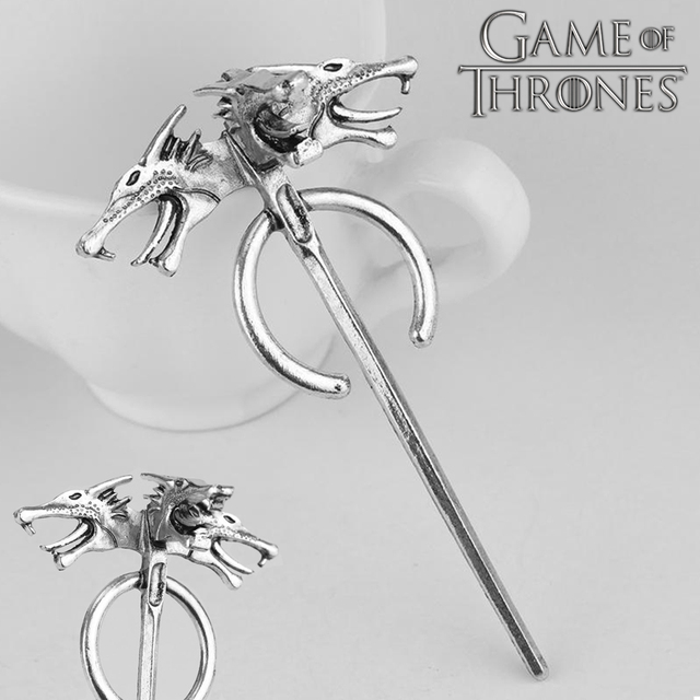 2018 Game of Thrones Season 7 Daenerys Targaryen Dragon Brooches Silver  Metal Pins Brooch Gift Cosplay Accessories Halloween 386c78930e10