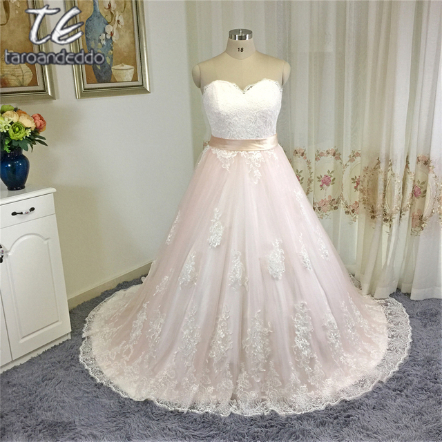 Aliexpress Buy Princess Ball Gowns Blush Wedding Dress With