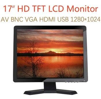 "17 inch Monitor HD 1280x1024 with Video Audio VGA AV USB HDMI 17"" TFT LCD Display for CCTV Camera PC DVD Laptop"