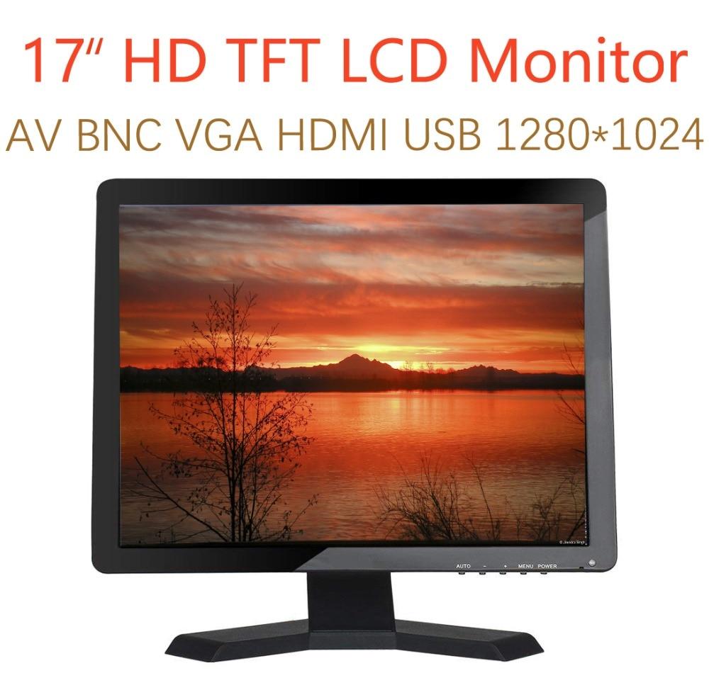 17 pouces moniteur HD 1280x1024 avec Audio vidéo VGA AV USB HDMI 17