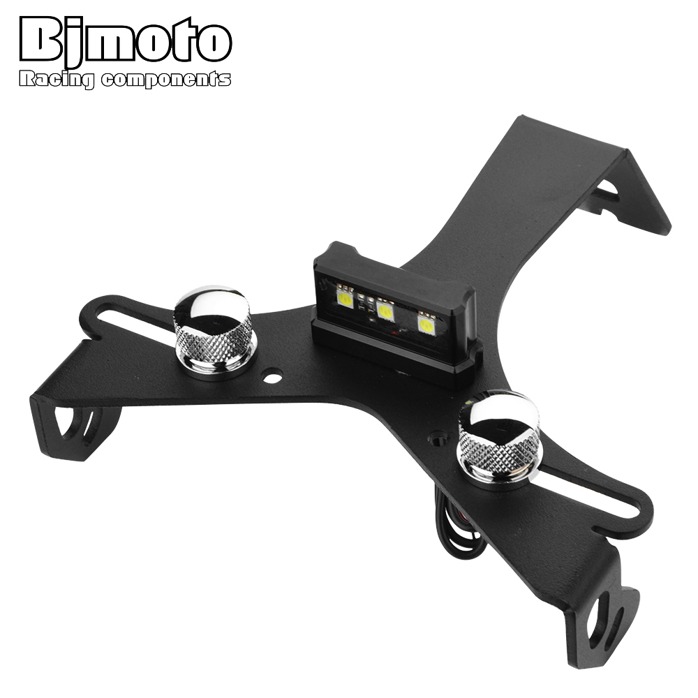 BJMOTO For DUCATI 848 1098 1098S Motorcycle Aluminum License Number Plate Frame Holder Bracket Black