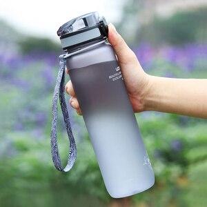 Image 3 - 500/1000 مللي زجاجة مياه رياضية خالية من البيسفينول أ زجاجة خفق البروتين محمولة مانعة للتسرب مناسبة للسفر والرحلات زجاجة بلاستيكية للشرب